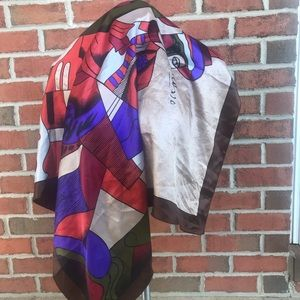 Picasso Silk square man abstract art scarf